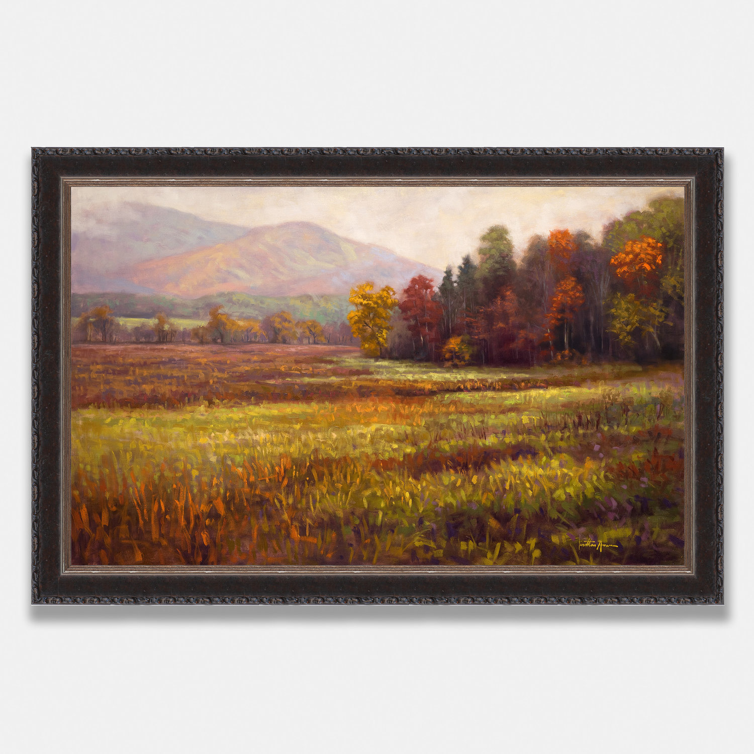 Autumn Grass Giclee On Canvas Jonathan Howe Fine Art