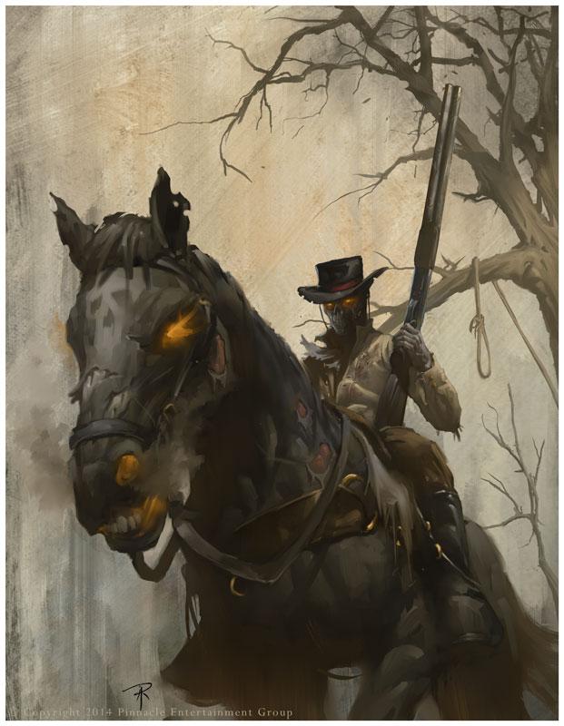 Dead Cowboy Riding Dead Horse