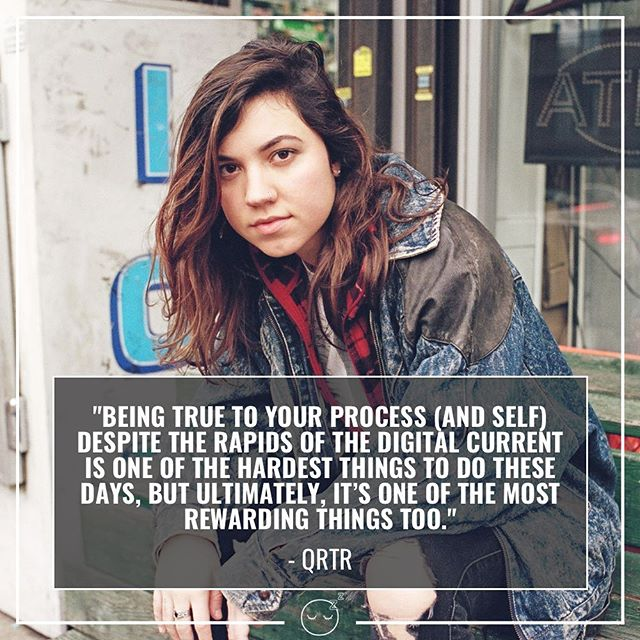 BE TRUE TO YOUR PROCESS! 💗 Wise words from @qrtrmusic. If you're in NYC, don't miss her set tomorrow at #FemmeTurf PRIDE (ft. @djwhitneyday)! #pridemonth⁠ ⁠ 🏳️‍🌈