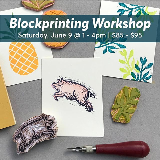 🔸Blockprinting on fabric and paper is set for June 9 with local artist and art educator @egchu1 ! 🔸 Tickets and info linked in bio. . . #blockprinting #rubberstamps #makeyourown #getcrafty #diyworkshops #berkeleyevents #stampmaking #printingclass #bayareaevents #eastbaymakers #designshop