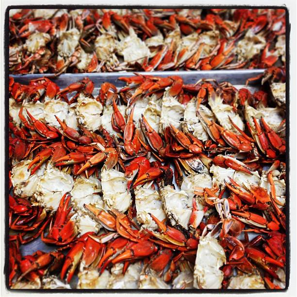 """Roasted """"True Blue"""" Maryland Crabs for Bisque"""
