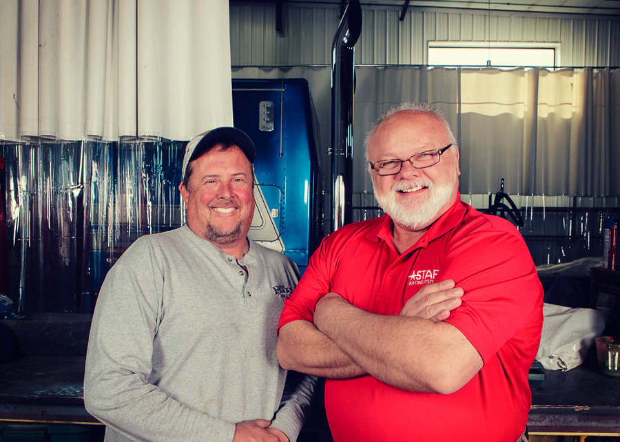 """Butch"" Filtz, owner of W.J. Filtz Trucking, and Randy Wanta"