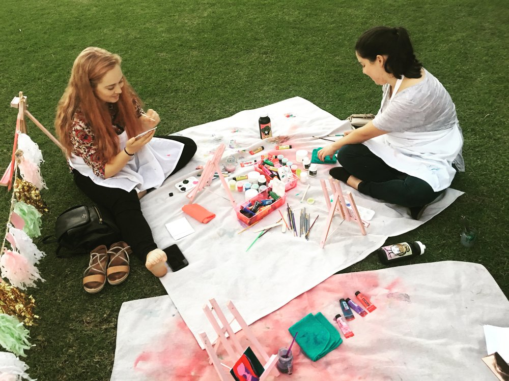 Pink Easel  - more than just a picnic-style art class.