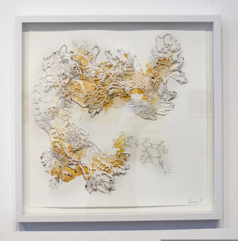 Is There an Ending to It?  Handcut Rice Paper, Graphite, Turmeric  2014