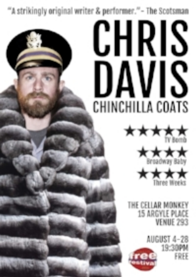 Chinchilla Coats - World Premiere Stand-Up show in Edinburgh Fringe