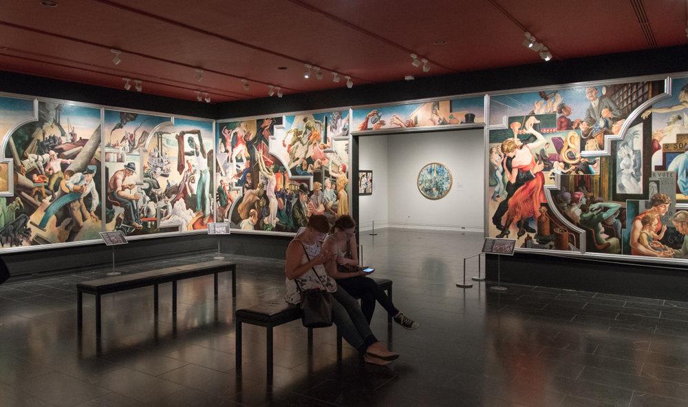 Thomas Hart Benton murals at the Met
