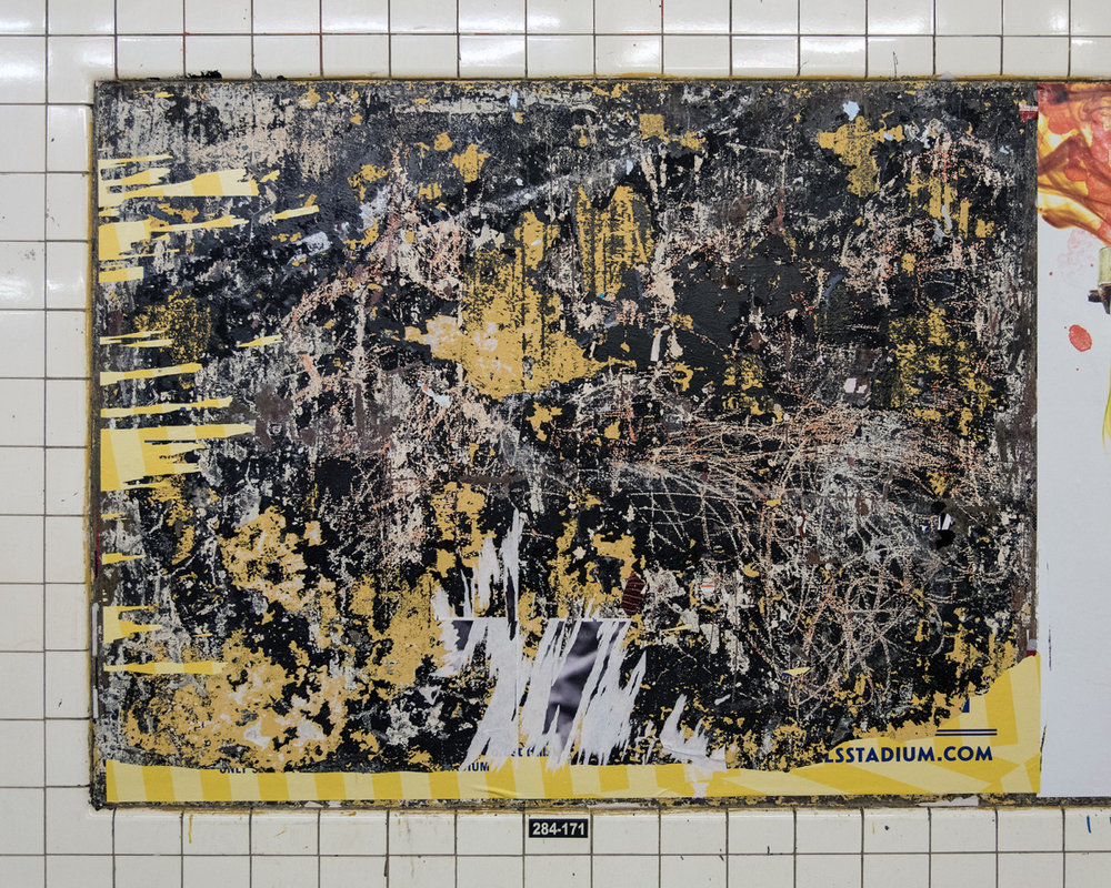 Found Art. G train station in Brooklyn, NY.