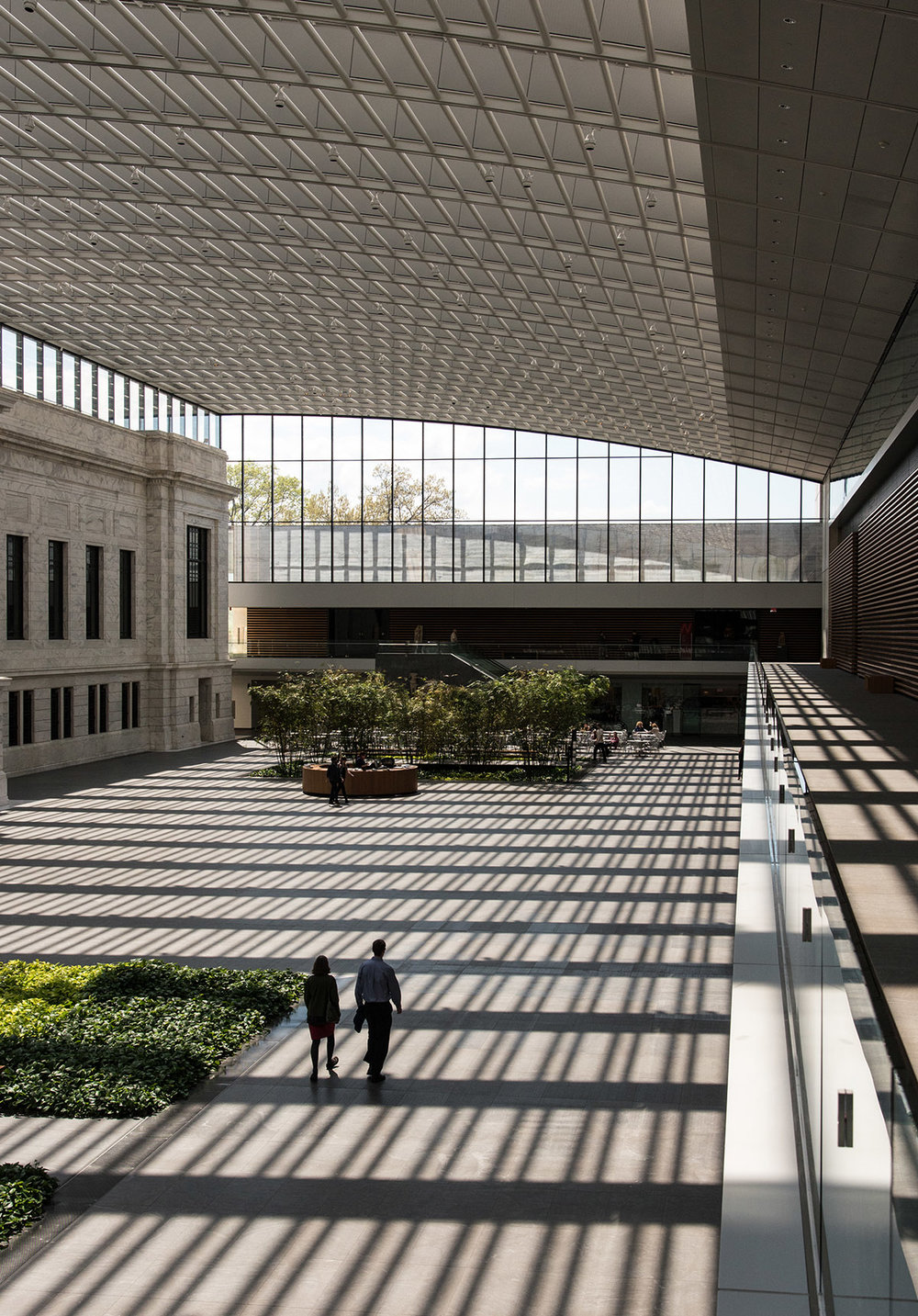 Atrium of the Cleveland Museum of Art.