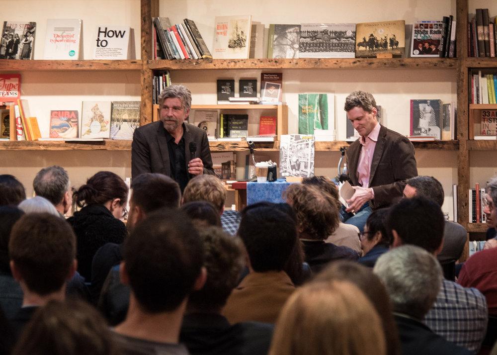 Karl Ove Knausgaard visits  BookCourt  in Brooklyn, NYC.