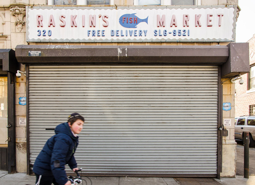 Raskin's Fish Market, Prospect-Lefferts Gardens, Brooklyn, NYC.