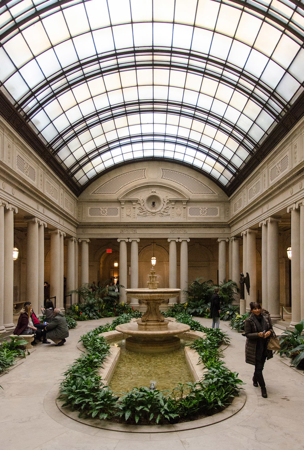 The courtyard at The Frick Museum, NYC