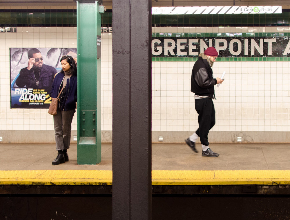 Greenpoint Ave Subway Stop. Brooklyn, NY.