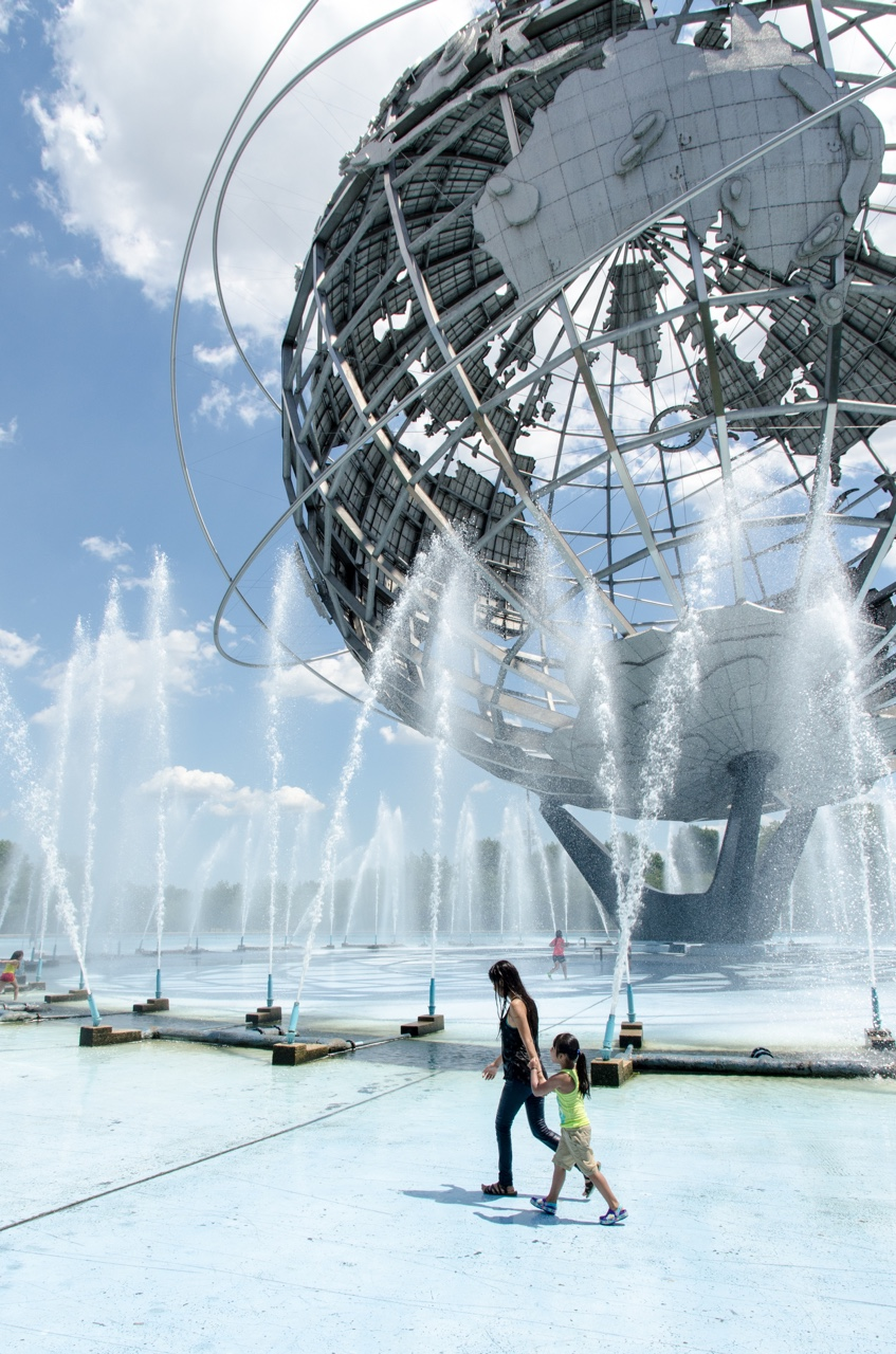 The Unisphere at Flushing Meadows-Corona Park in Queens, NYC.
