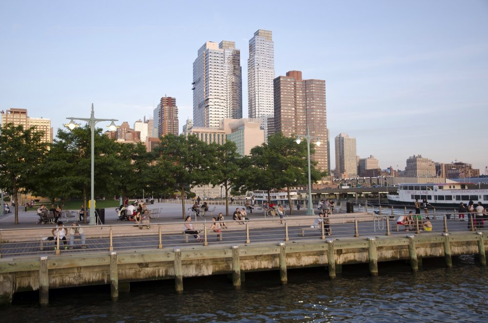 Pier 84 and Hell's Kitchen in NYC.