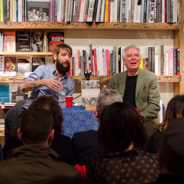 Legendary music producer Glyn Johns in conversation with Ben Bridwell of Band of Horses at #bookcourt. (at BookCourt)