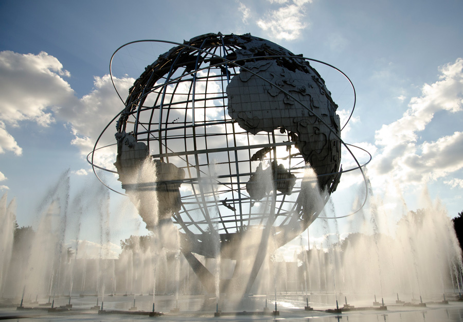 The Unisphere from the World's Fair of 1964 in Queens, NY