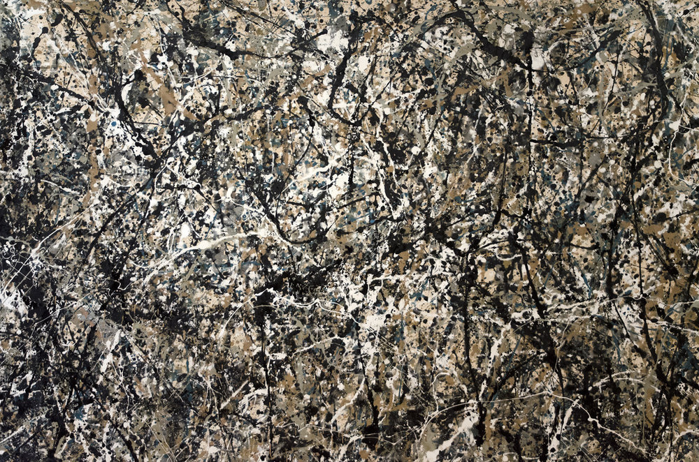Jackson Pollock painting at MoMA in NYC, 2013.
