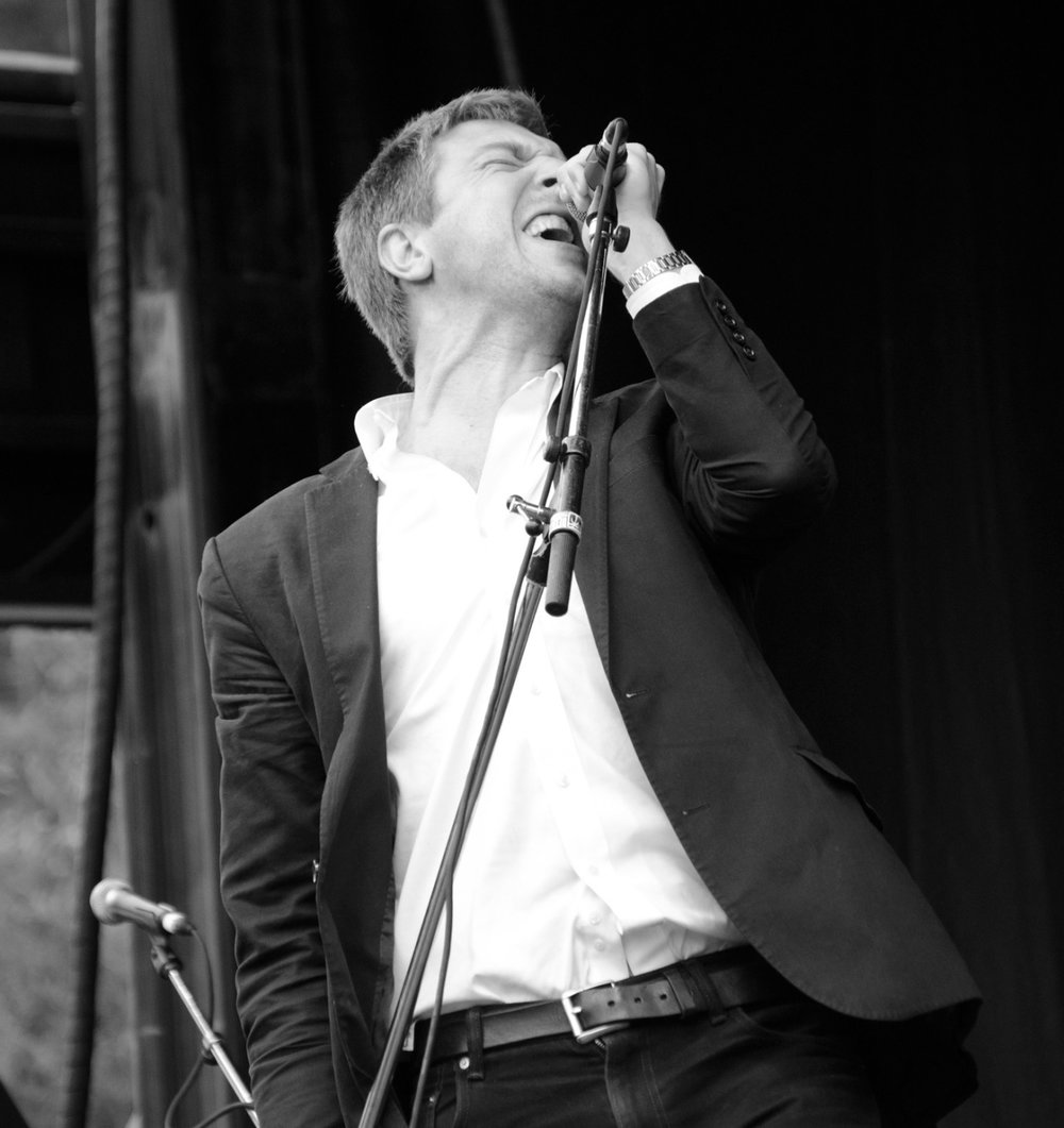 "The Walkmen in Golden Gate Park , 2013. Hamilton Leithauser belting out ""In The New Year."""