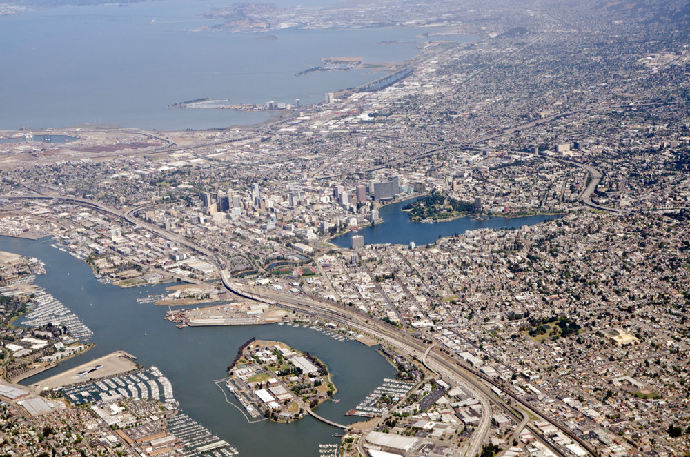 Oakland from the skies.