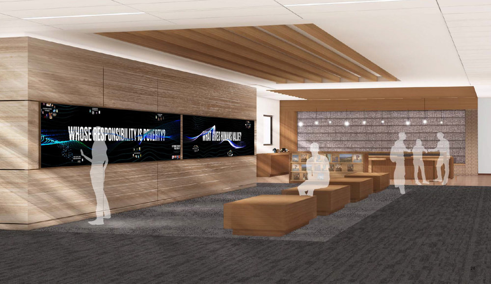 Rendering of library space