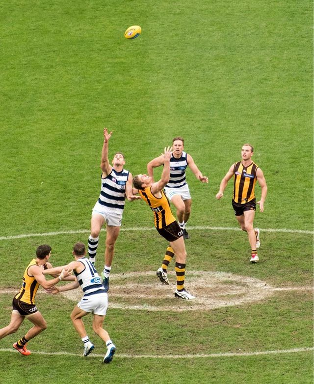 Made it to my first AFL match. Geelong destroys Hawthorn at the MCG.  #geelongcats #afl #melbourne