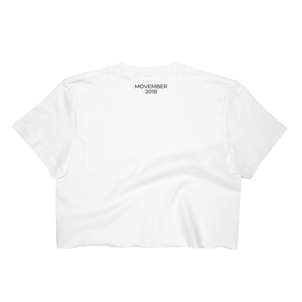 3161b4888d843c MOVEMBER white crop top — CrossFit Horsepower