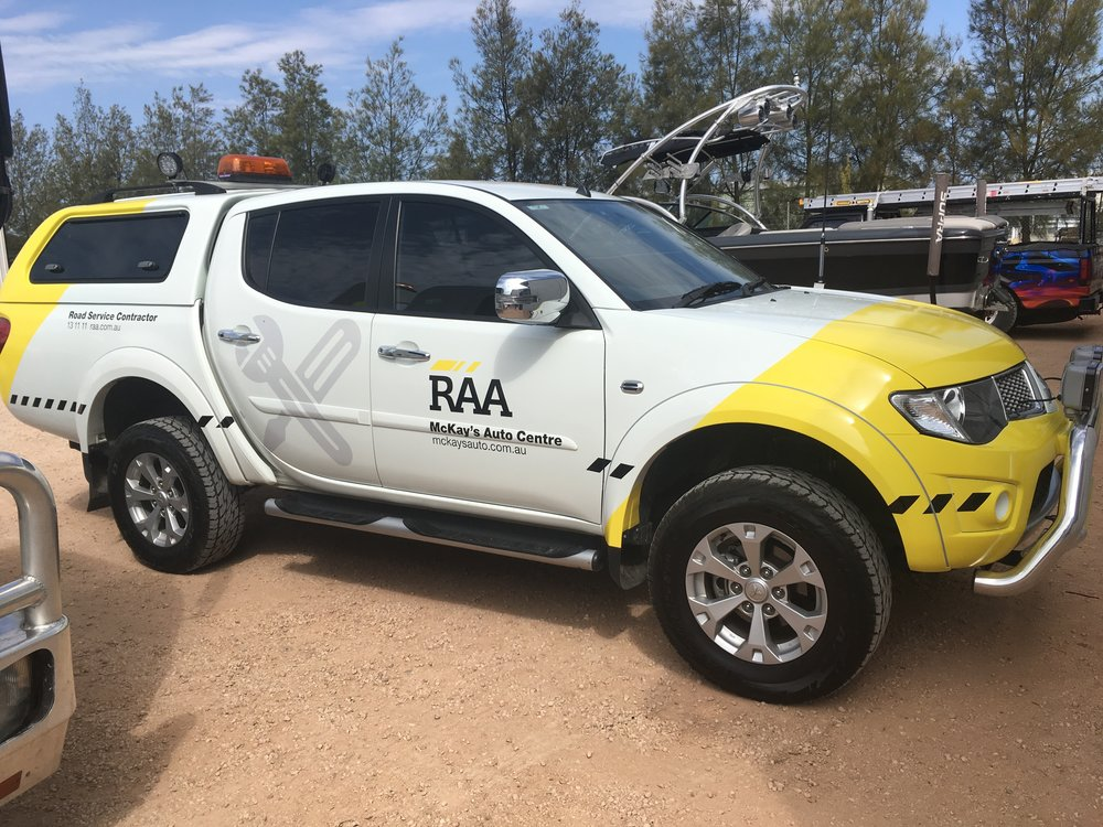 Stu's RAA ute done up with the new RAA signage.  Looks good and easily recognisable when out on the road.