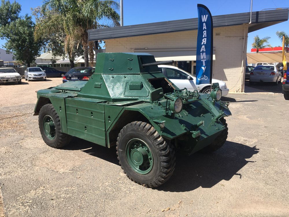 McKay's Towing picked this Ferret armoured car( scout car) up from Chigros Motors Renmark and delivered to the Waikerie RSL for them to showcase out the front of their building.