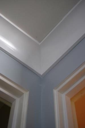 Double wide crown and base moldings throughout