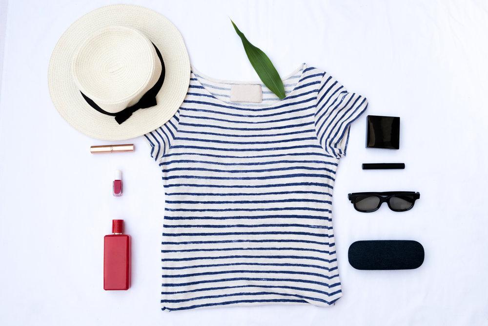 White Fashion Lay Flat Women's Apparel Items