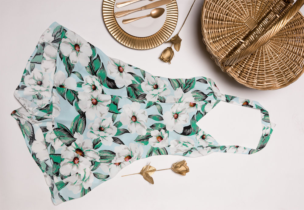 White Flat Lay of Apparel Items Creative Photography