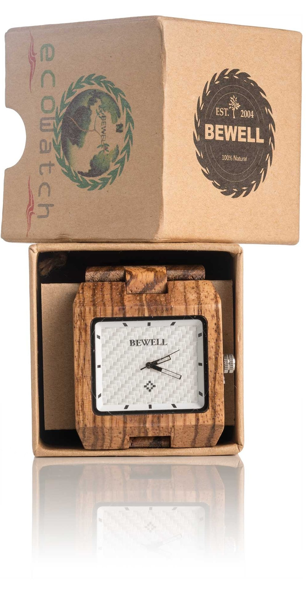 52%of people make purchase decisions due to packaging ... - Packaging is as important as the product inside.The packaging of a product can communicate just as much as the product itself. The Bewell Watch Co prides itself on it's wooden watches and being an eco friendly company. What better way to share and show this than through eco friendly, clearly recycled packaging.