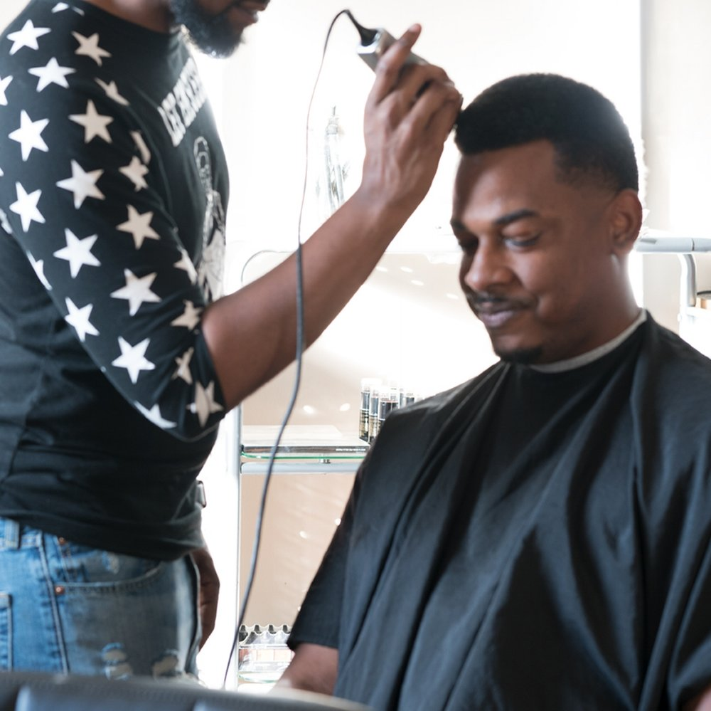 Yes Barbers do count! - Having a skilled mobile barber on set if you have male models or female models with short cut hair can help a shoot go from GOOD TO GREAT