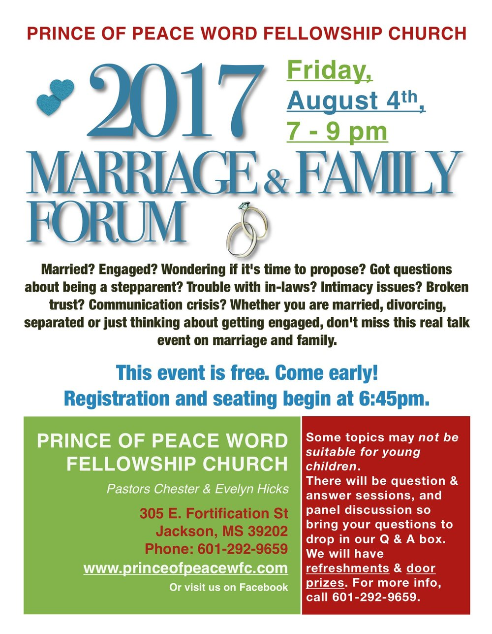 2017 Marriage & Family Forum — Prince of Peace Word