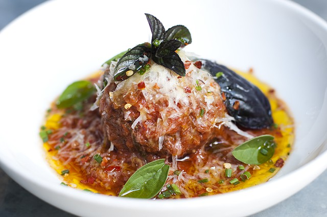 The fabulous meatball at No. 246 (photo from creative loafing)