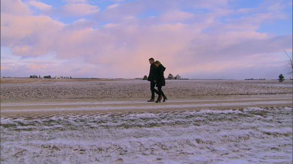 Prince Farming and Whitney take to the fields (photo from abc)