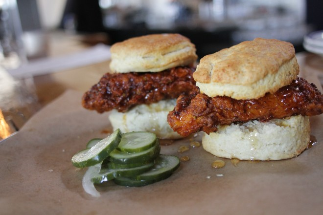 Ladybird's nashville hot chicken biscuits (photo courtesy of atlantaintownpaper.com)