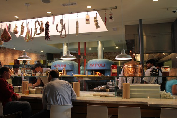 The pizza ovens at Varuni Napoli