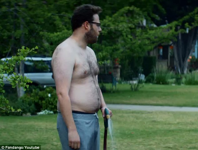 "This is seth rogen from the movie ""Neighbors."" He is married to Rose Byrne in this movie. WTF? (Photo from dailymail.co.uk)"