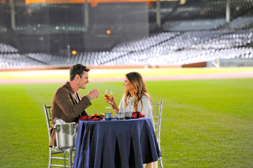 Dating at Wrigley (photo from ew.com)