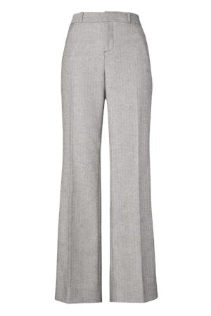 Blake-Fit Herringbone Flannel Wide-Leg Pant