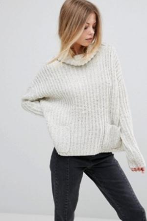 Girl in Mind Sophia Pocket Slouchy Sweater