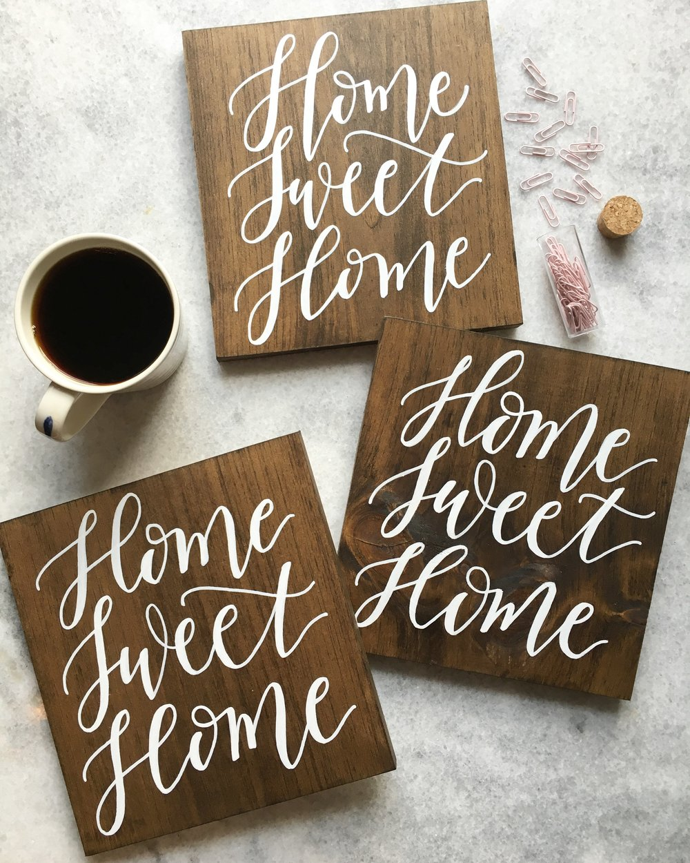 home sweet home sign, hand lettered home sweet home sign, custom wood sign, wood sign shop