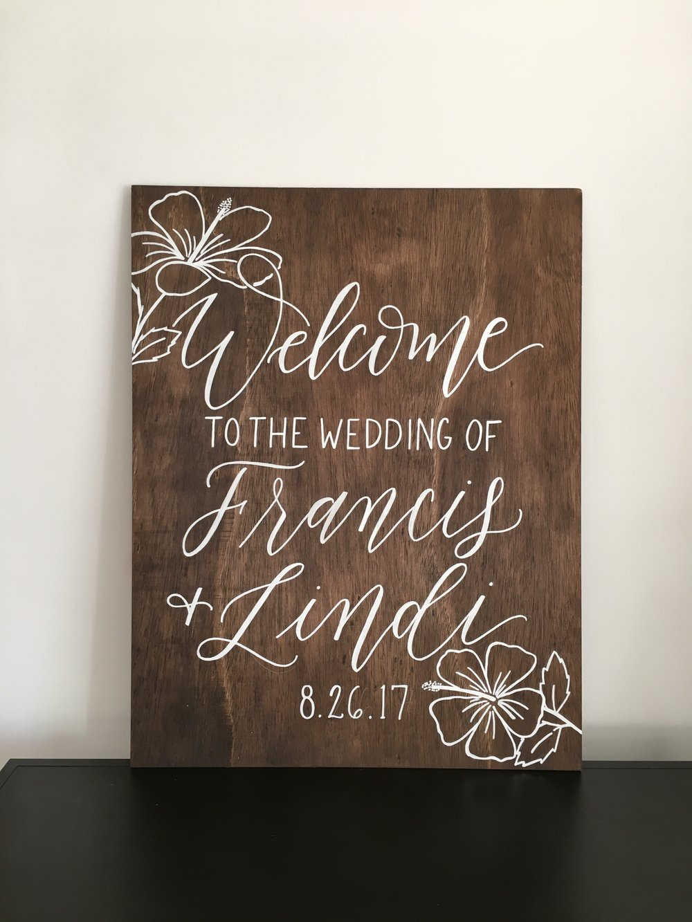 wedding welcome sign, wedding wood sign, wood wedding sign, custom wood sign, hand lettered sign