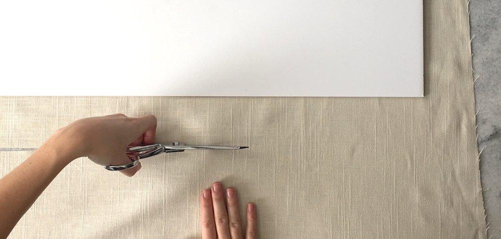 cutting linen