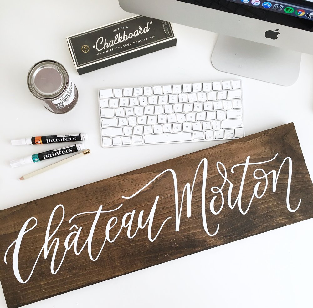CREATING HAND LETTERED WOOD SIGNS - $249 Full Payment (or) $95/month for 3 Months