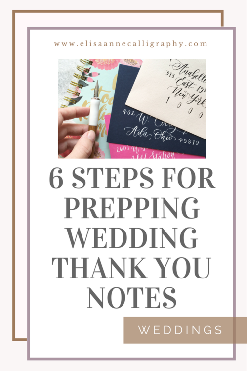 6 easy steps to help you prepare to write wedding thank you notes