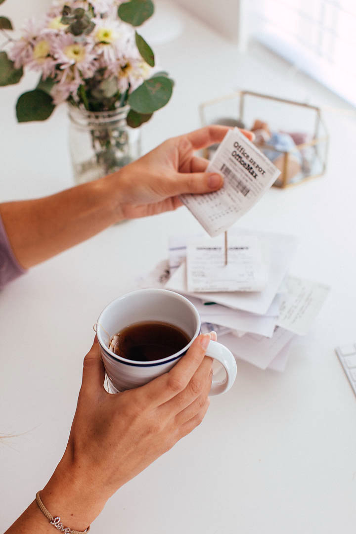 "Don't forget, you can also scan your receipts into quickbooks self-employed! For more info about tracking receipts and expenses, make sure to download my guide, ""10 Small Biz Finance Tips""! Photo by:  bygabriella.co"
