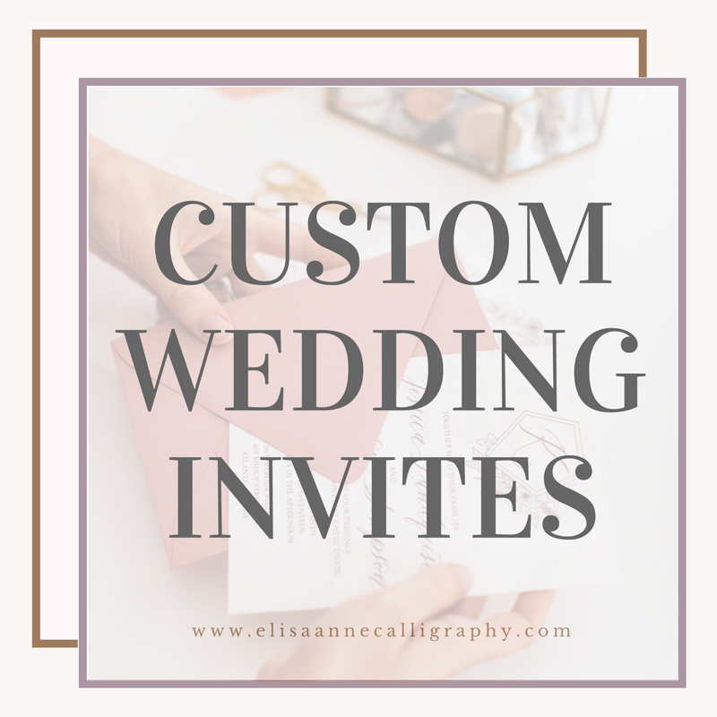 ElisaAnne Calligraphy Atlanta Calligraphy Custom Wedding Invitations