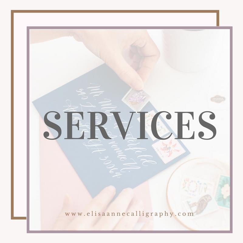 Calligraphy Services, Atlanta Calligrapher, Marietta Calligrapher